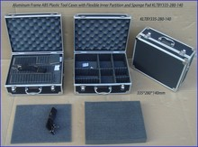 Aluminum Frame ABS Plastic Tool Cases with Flexible Inner Partition and Sponge Pad KLTBY335-280-140