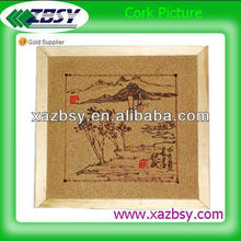 """""""QinBa """"Cork picture for Chinese shanshui paintings for decoration"""