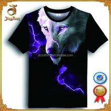2015 Popular Wolf Printed Custom Men Printed 3D t shirt