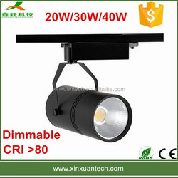 Dimmable high quality COB LED track light 40W 30W 20W 10W for jewelry CE RoHS