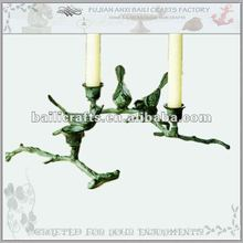 Birds on branch candle holder
