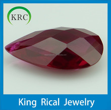 Red corundum synthetic corundum synthetic Ruby in pear shape
