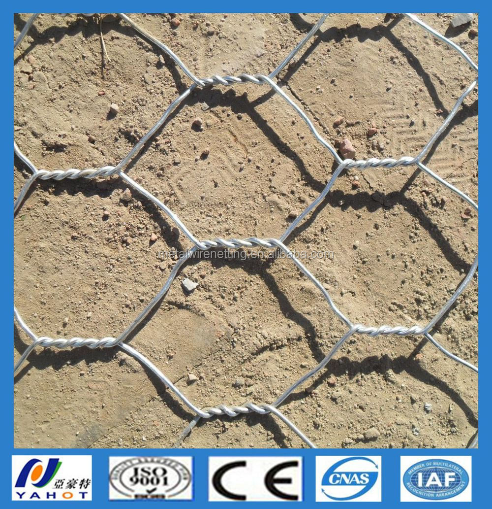 Galvanized and PVC Coated Anping Hexagonal Mesh