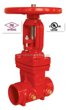 UL FM APPROVED RISING STEM GATE VALVE WITH GROOVED END
