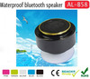 factory wholesale handsfree round wireless bathroom speaker,waterproof bluetooth speaker suction cup