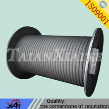 ferro dúctil de areia da resina de engenharia de fundição de peças de máquinas de elevação do tambor