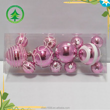 Popular mickey style christmas ball ,plastic christmas tree ornaments