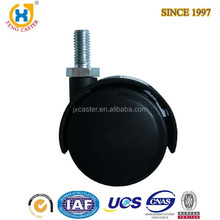 small Dual Wheel Nylon Furniture Caster ,threaded stem casters