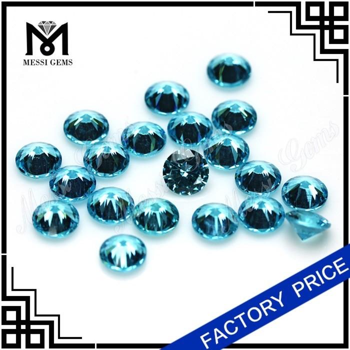 Грановитая круглый 7.0 мм голубой кристалл CZ бусины для продажи