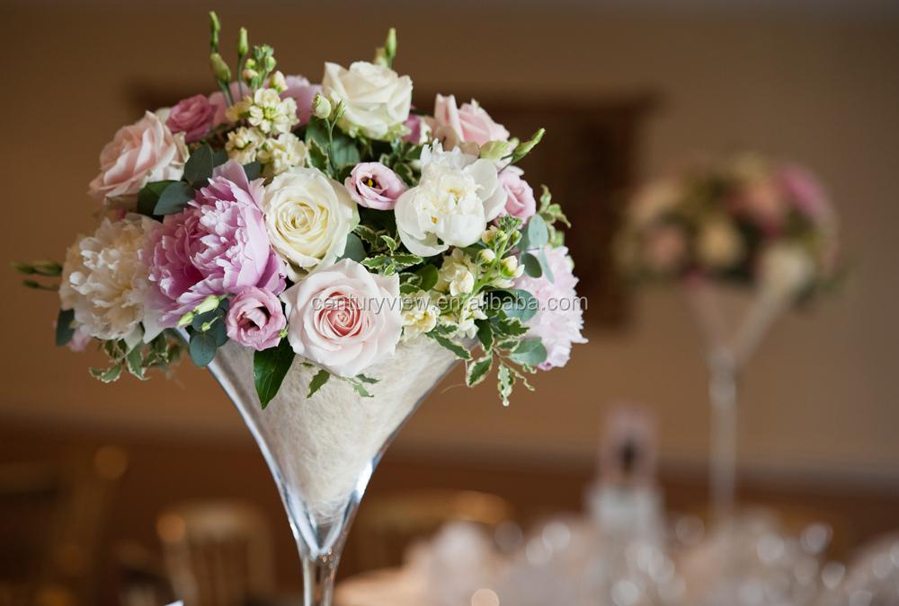 Long Stemmed Wholesale Martini Glass Martini Vases Wedding