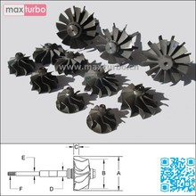 TB25 / GT2556V Shaft Wheel 454191-0004/454191-4/454191-0005/454191-5/454191-0006/454191-6 Turbine Shaft and Wheel Assembly
