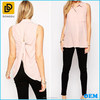 100% Polyester Regular fit semi sheer chiffon blouse for maternity clothes