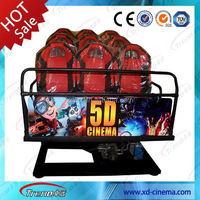Amusement park game machine 5d Cinema with Outside Cabin/Box