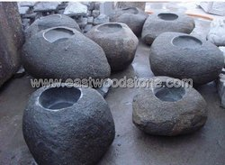 natural stone planter garden pot