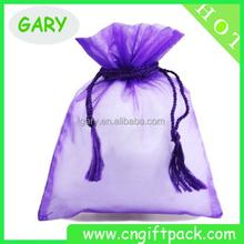 Large organza drawstring tropical gift bags