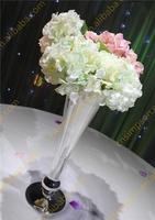 Silvery Metal Flower Vase for wedding Decoration