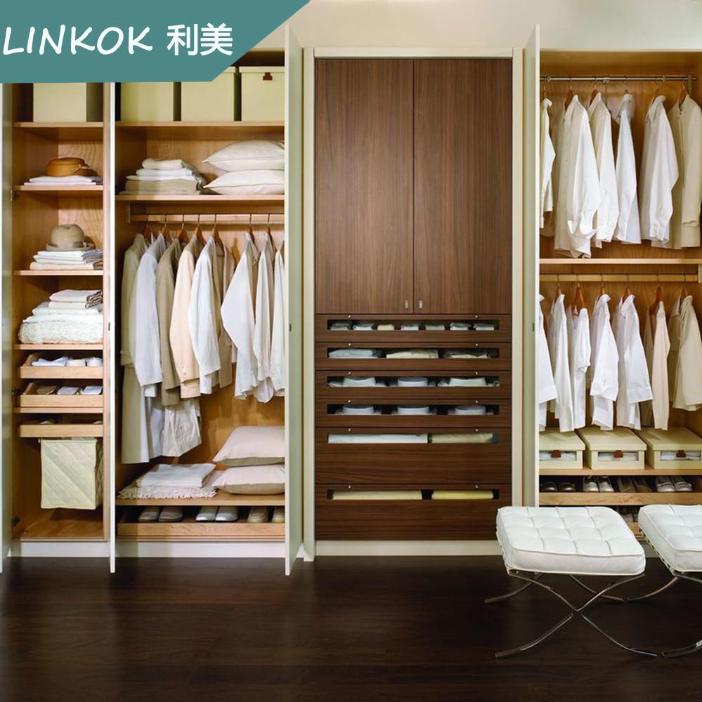 Customized Acrylic Bedroom White Wardrobe Sliding Door Fittings