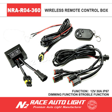Lifetime Warranty Cars LED Light Accessories 360w Max Output IP67 30A 12V Wireless Remote Control with Strobe Function
