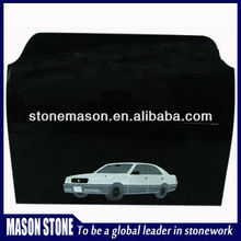 Natural black car shaped tombstone pictures