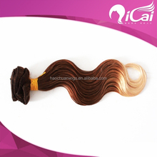 New Arrival Ombre Hair Weave 100% Brazilian Human Hair Weave Extension 3 Tone Color