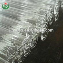 de alta presión de gran diámetro de tubo transparente de cuarzo claro tubos de vidrio