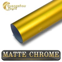 Low Price Classical Metallic Matte Wrap Quality Same As 3M Chrome Gold Vinyl