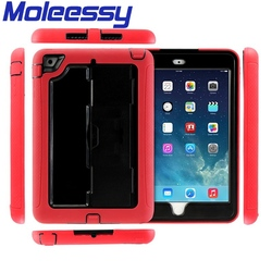 Waterproof hard case for ipad mini stand holder case