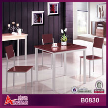 B0830 Modern table set/square 4 seater design dining table and chair/dinging table set
