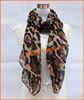 Leopard Print lady pashmina scarf, shawl, hijab, silk, by Yiwu Real Fashion accessories factory since 2006