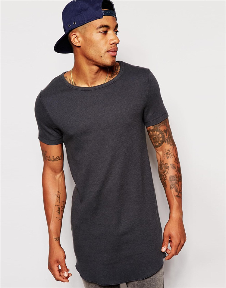 Tight fit long men t shirts grey color t shirts crossfit t for Mens colored t shirts