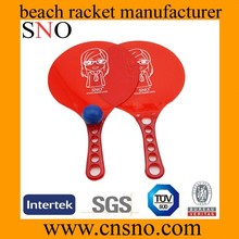 Outdoor plastic plastic beach racket with ball