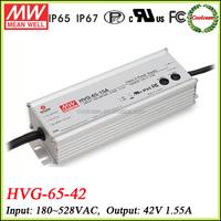 Meanwell led bulb driver 42v 1.55a HVG-65-42