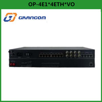 Grancom OP-4E1*4ETH*VO 2 channel ethernet + 4 port E1 PCM fiber modem
