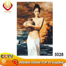 2015 open hot sexy nude girl photo oil painting