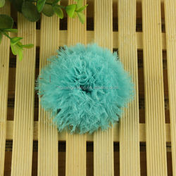 gauze chiffon swirl flower lace hair accessories organza flowers appliques