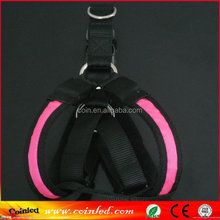 ANY SIZE & COLOR -3 Modes LED Light Flashing dog body harness