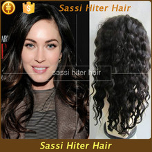 New style fashion natural black long kinky curly lace front wigs