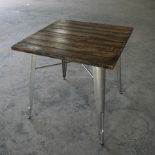 Rustic Teak Wood Square Top Dining Table