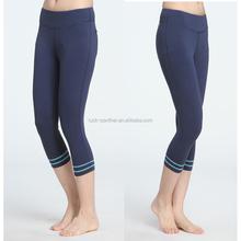 fitness lycra yoga pants women, custom printing stripe yoga tights