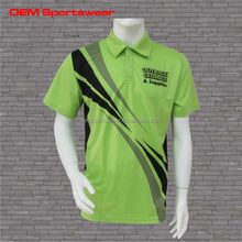 Own brand fluorescence polyester custom polo t shirts