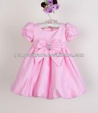 latest baby party dress,bowknot,Lantern design 2014