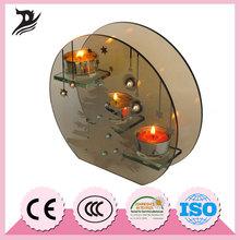 Mejores ventas de China proveedor buen precio tallo largo claro cristal del tealight titular de la vela