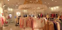2015 Customized dress shop fitting display interior design store fixture,display racks