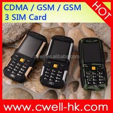 Land Rover M12 CDMA/GSM Dual Mode Handphone 3 SIM Card 3 Standby 4500mAh Battery