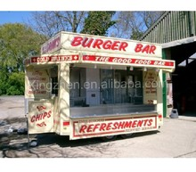 New type food cart in 2014 CE ISO9001 approve converted burger van