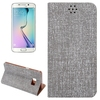 In Stock Cloth Texture leather back cover for Samsung galaxy s6 edge plus