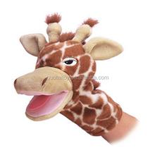 plush giraffe hand puppet toy custom hand puppet
