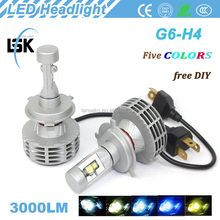 Strong OEM G6 LED headlight hi/lo beam H4, H13, 9004, 9007 AUTO led headlight kit 28w FOR all cars