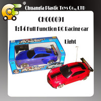 1:14 Full function RC racing car with light & charger 3 colors