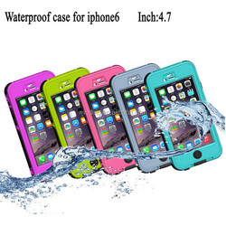 Wholesale waterproof case for iphone 6 and plus, touch-tone waterproof phone case for iphone6 and plus